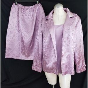 Kari New York Size 20W Purple Skirt Suit